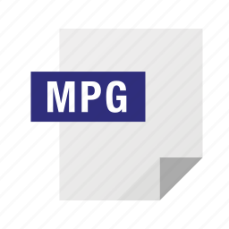 filetypes, movie, mpg, video icon