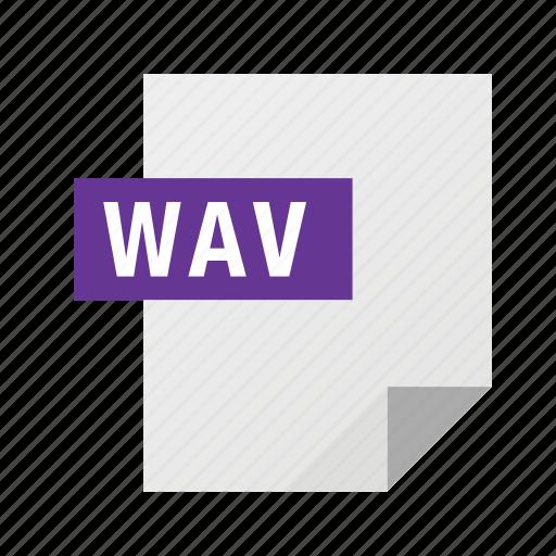 audio, filetypes, wav icon