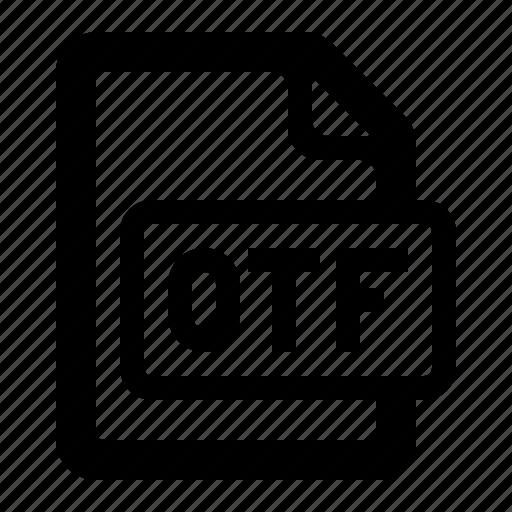 file, filetypes, font, opentype, otf, otf file, watchkit icon