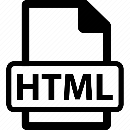 html, html document, html extension, html file, html format icon