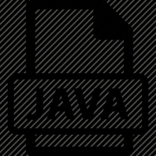 java, java extension, java file, java format icon