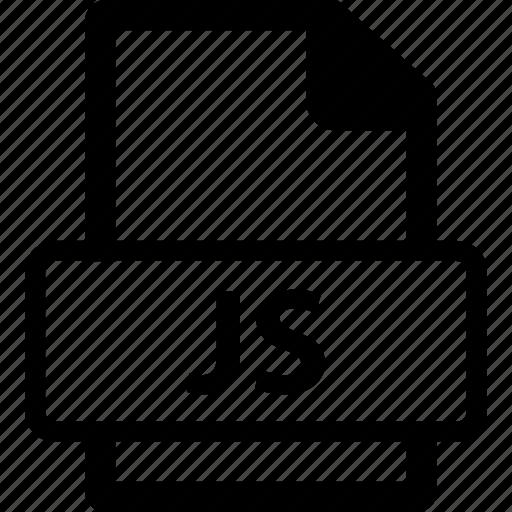 front end, javascript, js, js extension, js file icon