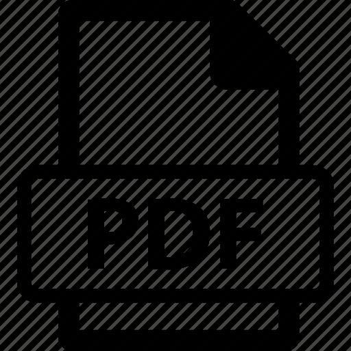 pdf, pdf document, pdf extension, pdf file, pdf format icon