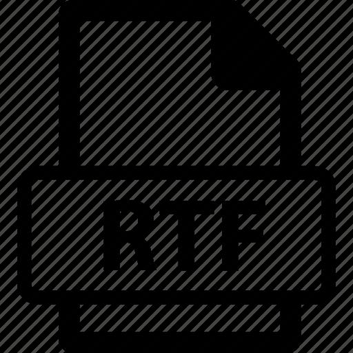 rtf, rtf data, rtf document, rtf extension, rtf file icon