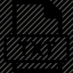 txt, txt data, txt document, txt extension, txt file icon