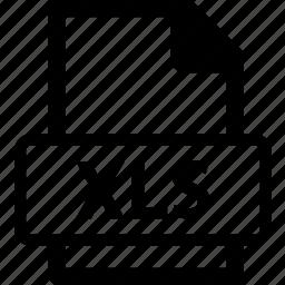 xls, xls data, xls document, xls extension, xls file icon
