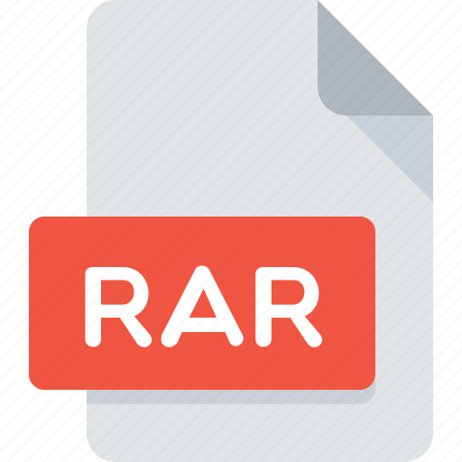 archive, extension, file, rar, type icon