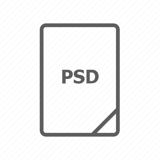 document, file, image file, presentation document, psd, psd document, psd file icon