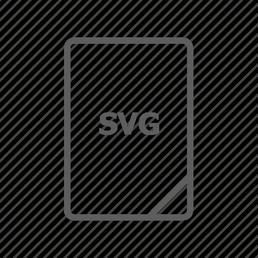 document, file, image file, presentation document, svg, svg file, vector file icon