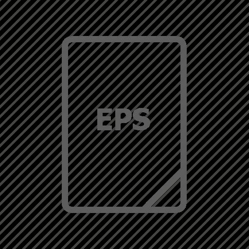 document, eps, eps file, file, image file, presentation document, video file icon