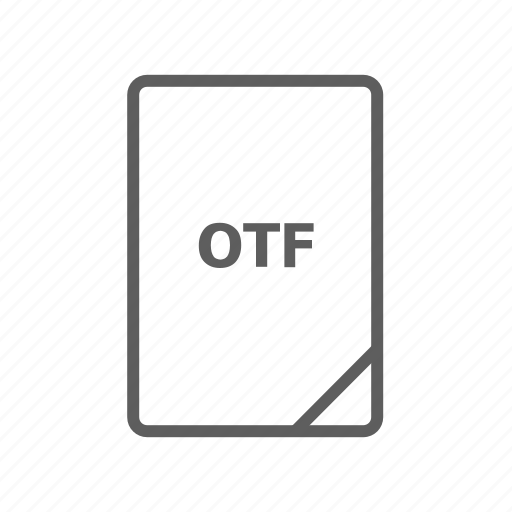 document, file, image file, otf, otf file, presentation document, video file icon