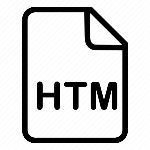 document, file, format, htm, type icon