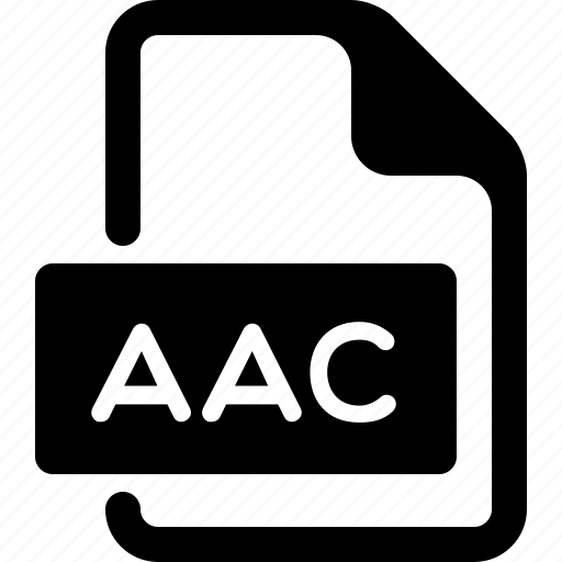 aac, document, file, media, music, type icon
