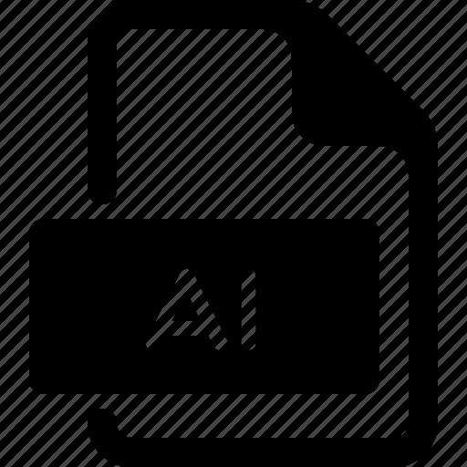 adobe, ai, file, illustrator, type icon