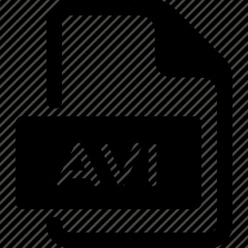 avi, document, file, media, type, video icon