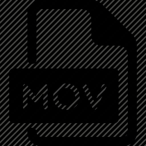 document, file, media, mov, type, video icon
