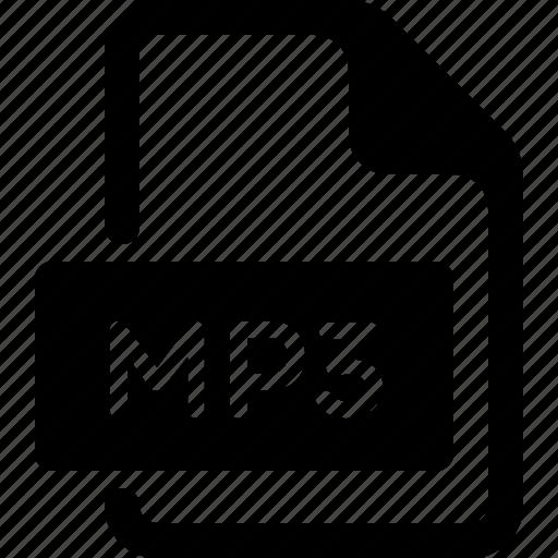 audio, document, file, media, mp3, music, type icon