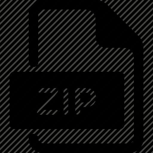 archive, dcoument, doc, file, type, zip icon