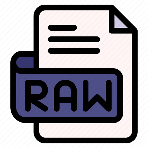 Raw, file, type, format, extension, document icon - Download on Iconfinder