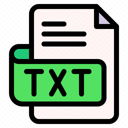 Txt, file, type, format, extension, document icon - Download on Iconfinder