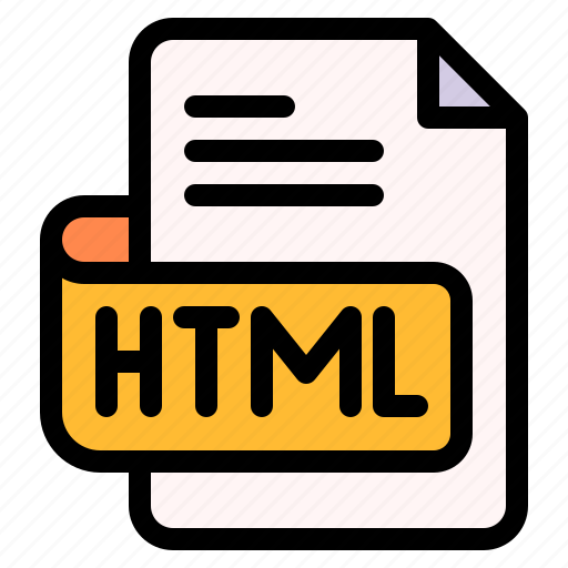Html, file, type, format, extension, document icon - Download on Iconfinder