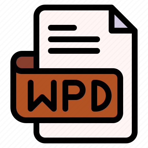 Wpd, file, type, format, extension, document icon - Download on Iconfinder