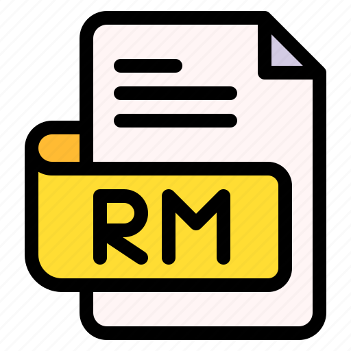 Rm, file, type, format, extension, document icon - Download on Iconfinder