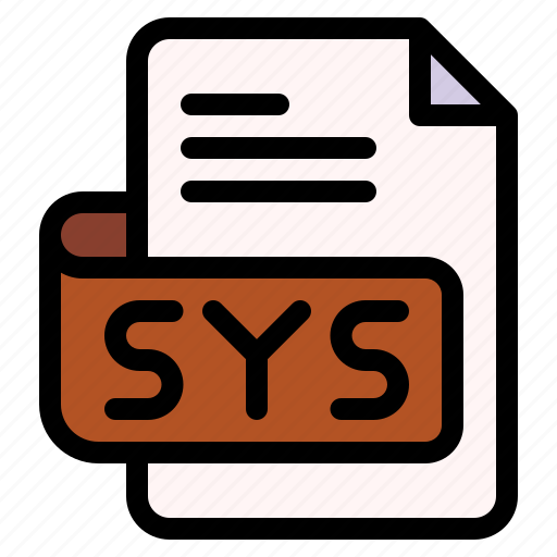 Sys, file, type, format, extension, document icon - Download on Iconfinder