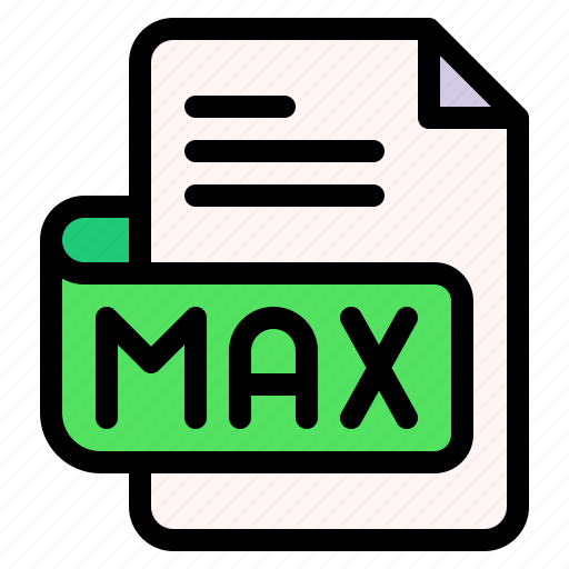 Max, file, type, format, extension, document icon - Download on Iconfinder