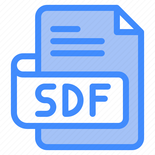Sdf, file, type, format, extension, document icon - Download on Iconfinder