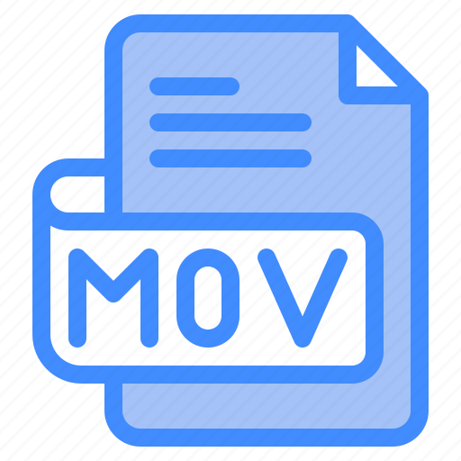 Mov, file, type, format, extension, document icon - Download on Iconfinder