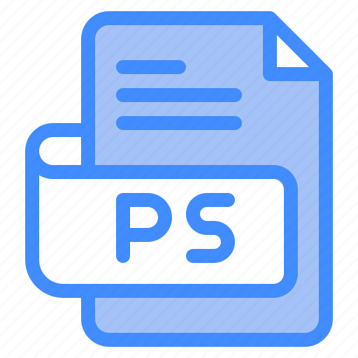 Ps, file, type, format, extension, document icon - Download on Iconfinder