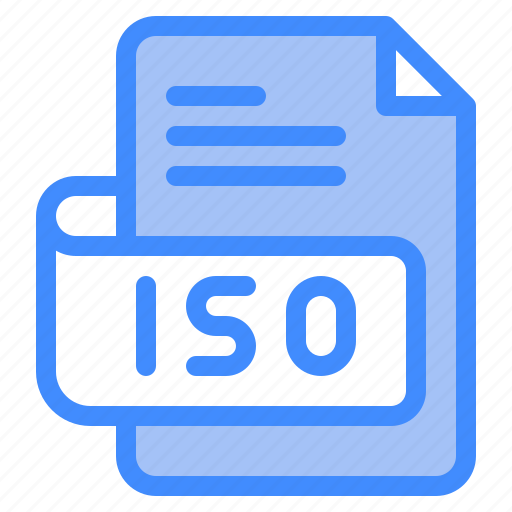 Iso, file, type, format, extension, document icon - Download on Iconfinder
