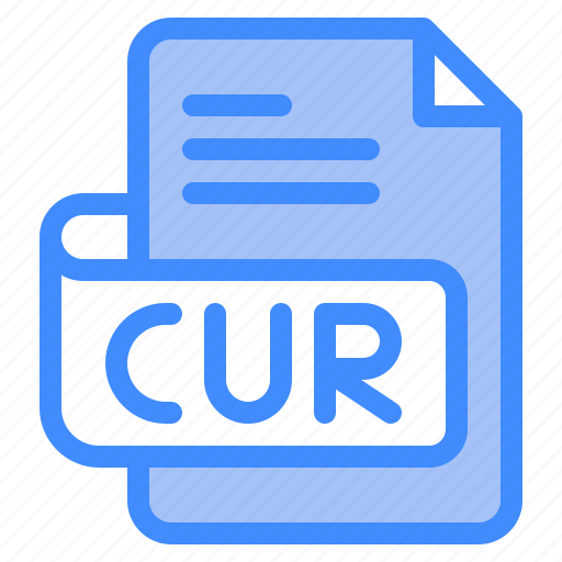 Cur, file, type, format, extension, document icon - Download on Iconfinder