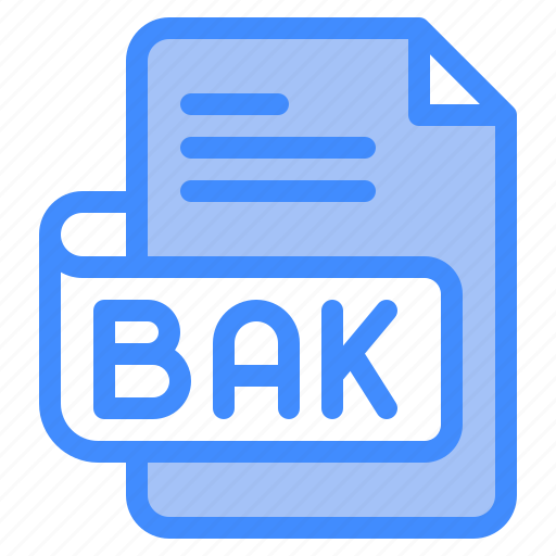 Bak, file, type, format, extension, document icon - Download on Iconfinder