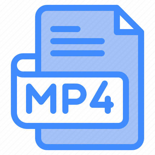 Mp4, file, type, format, extension, document icon - Download on Iconfinder