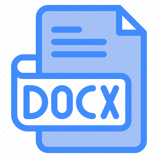 Docx, file, type, format, extension, document icon - Download on Iconfinder
