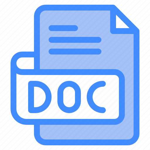 Doc, file, type, format, extension, document icon - Download on Iconfinder