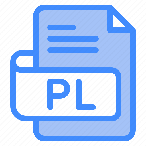 Pl, file, type, format, extension, document icon - Download on Iconfinder