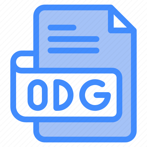 Odg, file, type, format, extension, document icon - Download on Iconfinder