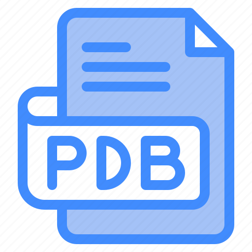 Pdb, file, type, format, extension, document icon - Download on Iconfinder