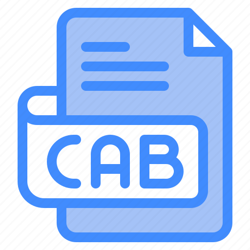 Cab, file, type, format, extension, document icon - Download on Iconfinder