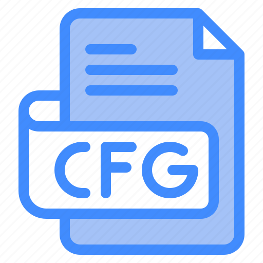 Cfg, file, type, format, extension, document icon - Download on Iconfinder