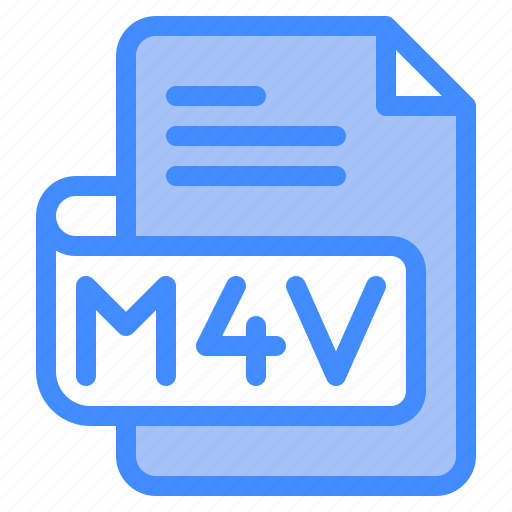 M4v, file, type, format, extension, document icon - Download on Iconfinder