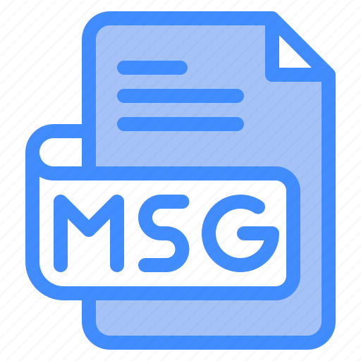 Msg, file, type, format, extension, document icon - Download on Iconfinder