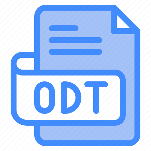Odt, file, type, format, extension, document icon - Download on Iconfinder