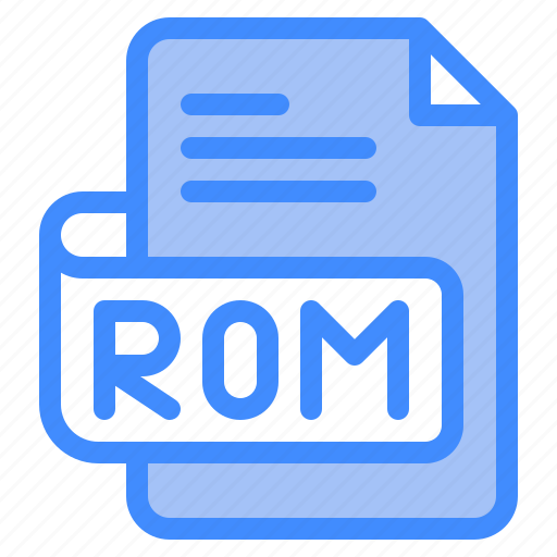 Rom, file, type, format, extension, document icon - Download on Iconfinder