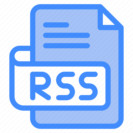 Rss, file, type, format, extension, document icon - Download on Iconfinder