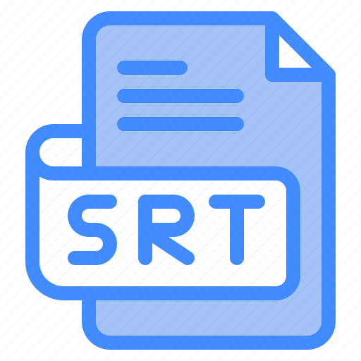 Srt, file, type, format, extension, document icon - Download on Iconfinder