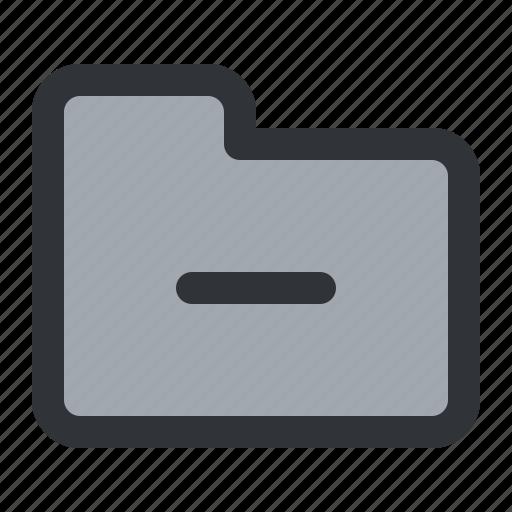 documents, files, folder, minus, remove, storage icon